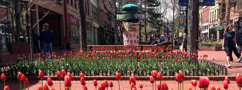 Pearl Street Mall in Springtime.